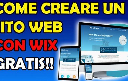 Come creare un sito web gratuito con Wix